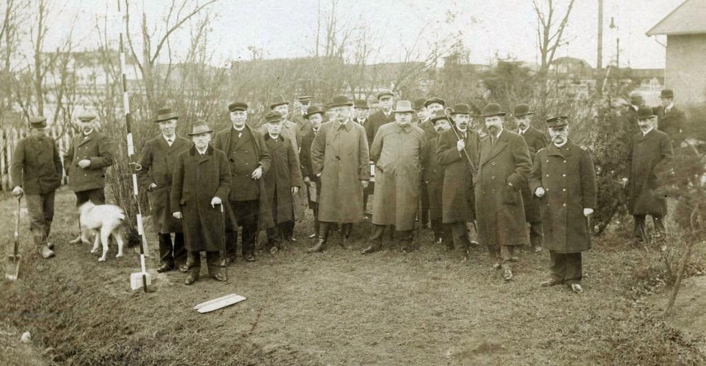 Første spadestik på Køge-Ringstedbanen