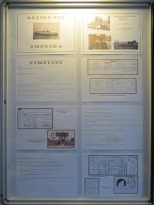 """Se den lille udstillingen """"Rejsen til Amerika"""" på Borup Kulturhus"""