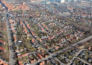 """""""Digterkvarter"""" i Sønderkøge."""