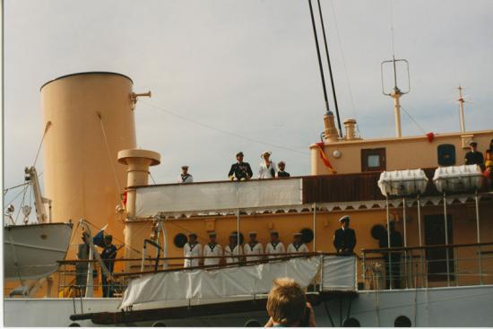 Kongeskibet i Køge Havn 1988