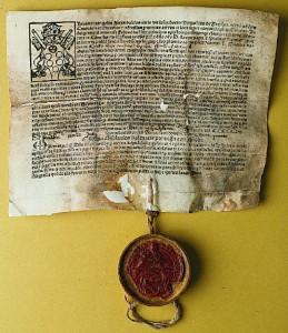 Trykt afladsbrev  udstedt til Anders Bille 1516