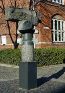 "Skulptur ""Den låste"", Nørregade 29"