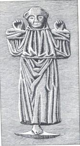 Frans af Assisi   Klokken fra Gråbrødreklosteret  i Vestergade  Nu på Køge Rådhus