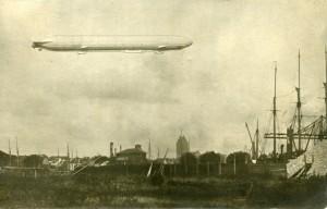 Zeppelineren Hansa set fra Køge Havn