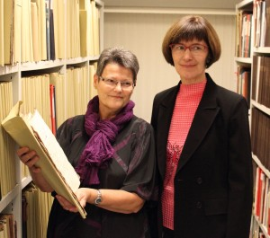 Arkivar Lone Rasmussen og arkivleder Birte Broch