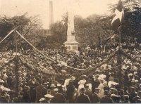 Monumentet til minde om søslagene i Køge Bugt - ved afsløringen i 1906.