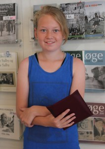 Jessica Holmstrand var den heldige vinder af lodtrækningen i Byarkivets skattejagt.