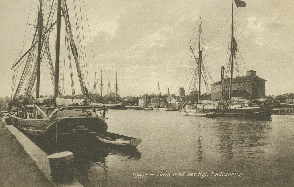 Parti fra Køge Havn med Det kgl. Toldkammer