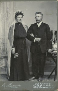 Brudebillede af Marie og Hans Nielsen