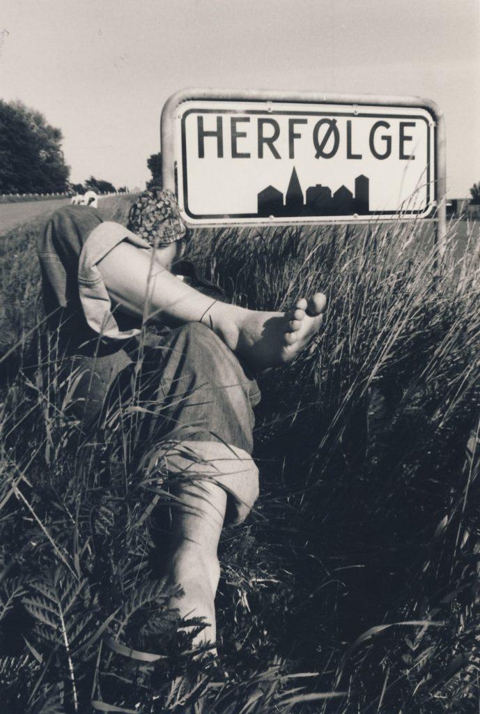 Motiv fra Herfølge-fest 1977, fotografi af Peter Klein. Fra den 24.9.2016 kan hele udstillingen ses på Lokalarkivet i Herfølge.