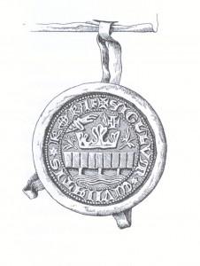 Køge Bys segl 1329