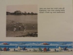 Udstillingen i Skovbo Lokalhistoriske Arkivs udhængsskab