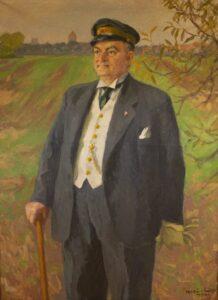 Maleri af Vagn Bro. Fotografi efter maleri i Køge Byhistoriske Arkivs samling.
