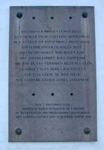 Mindetavle med B.S. Ingemanns vers, Herfølge Kirke