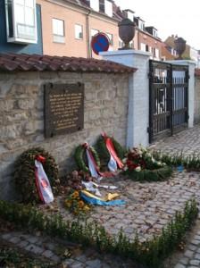 Mindeplade over 600 søfolk der omkom på Dannebroge i Køge Bugt i 1710